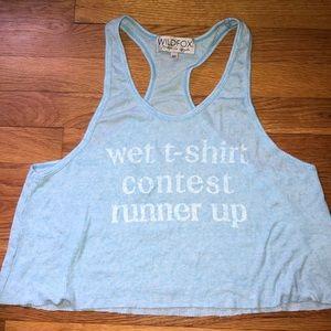 NWOT Wildfox Wet T-Shirt Contest Runner Up Tank